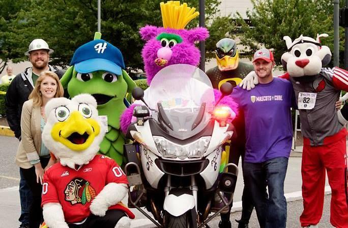 Mascots For A Cure And Portland Rose Festival