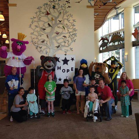 Mascots For A Cure At Doernbecher
